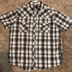 Helix short sleeve shirt mens sz XXL western plaid